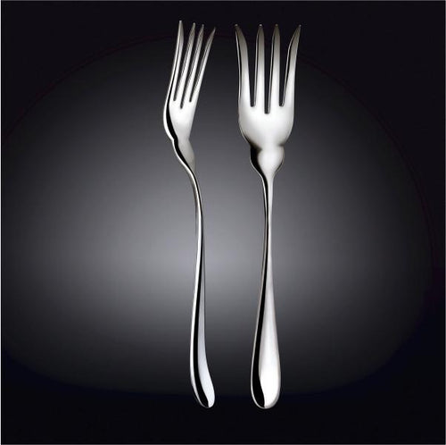 [D **] High Polish Stainless Steel Fish Serving Fork 10.5