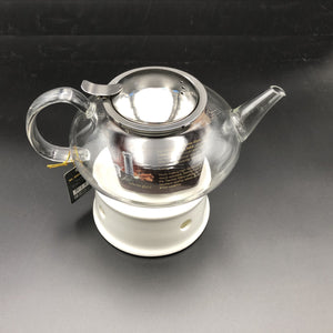 Large Asian Tea Thermo Set With 6 Bowls For Serving And A Porcelain Warming Stand WL-555017