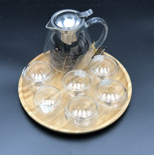 Small Asian Tea Thermo Set With 6 Bowls For Serving And A Bamboo Serving Tray WL-555018