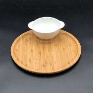 Bamboo And Fine Porcelain Set For Single Serve Soup Or Cereal Or Your Favorite Dessert  WL-555021