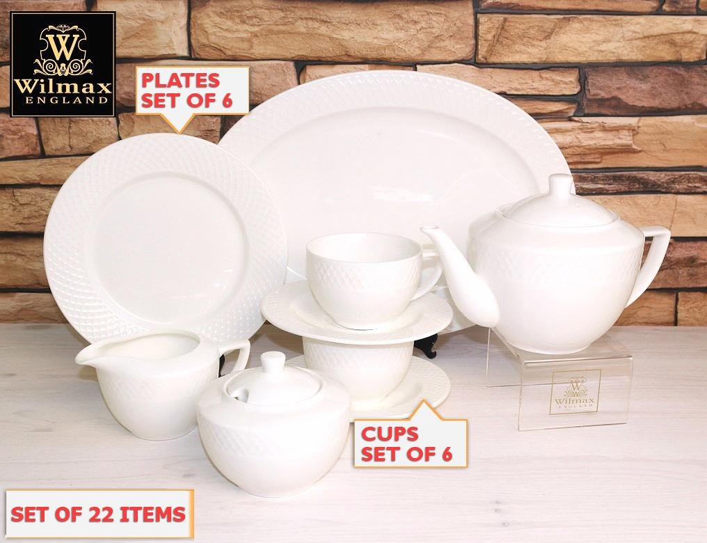 Julia Fine Dinning 22 Piece Entertaining Set For 6 WL-555006