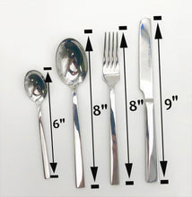 Four (4) Piece 18/10 Stainless Steel Dinner Set By Wilmax With A Square Solid Handle WL-555051