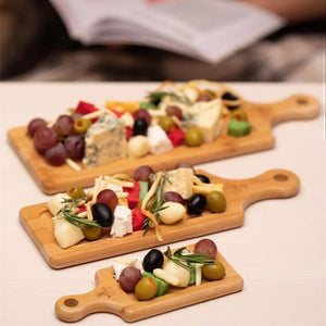 3 Bamboo Tray Set For Your Favorite O'dourves Or Amuse Bouche WL-555058