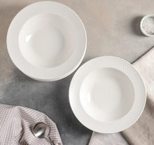 [A] Fine Porcelain Deep Plate 9"