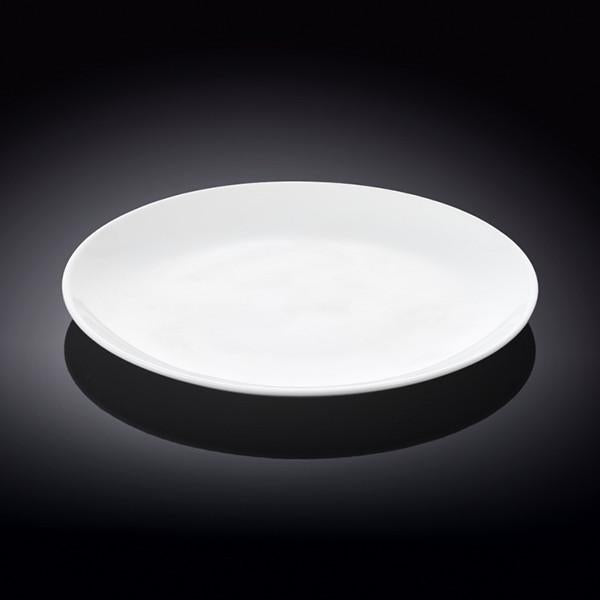 [A] Fine Porcelain Rolled Rim Dinner Plate 9