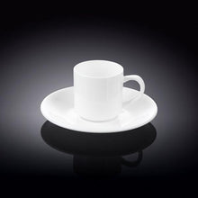 3 OZ | 90 ML COFFEE CUP & SAUCER - WILMAX PORCELAIN WILMAX