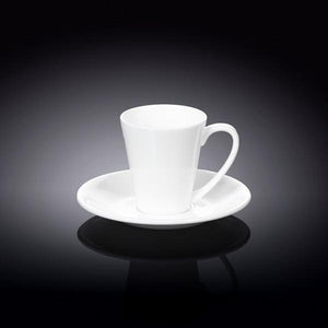 4 OZ | 110 ML COFFEE CUP & SAUCER - WILMAX PORCELAIN WILMAX