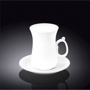 4 OZ | 120 ML TEA CUP & SAUCER - WILMAX PORCELAIN WILMAX