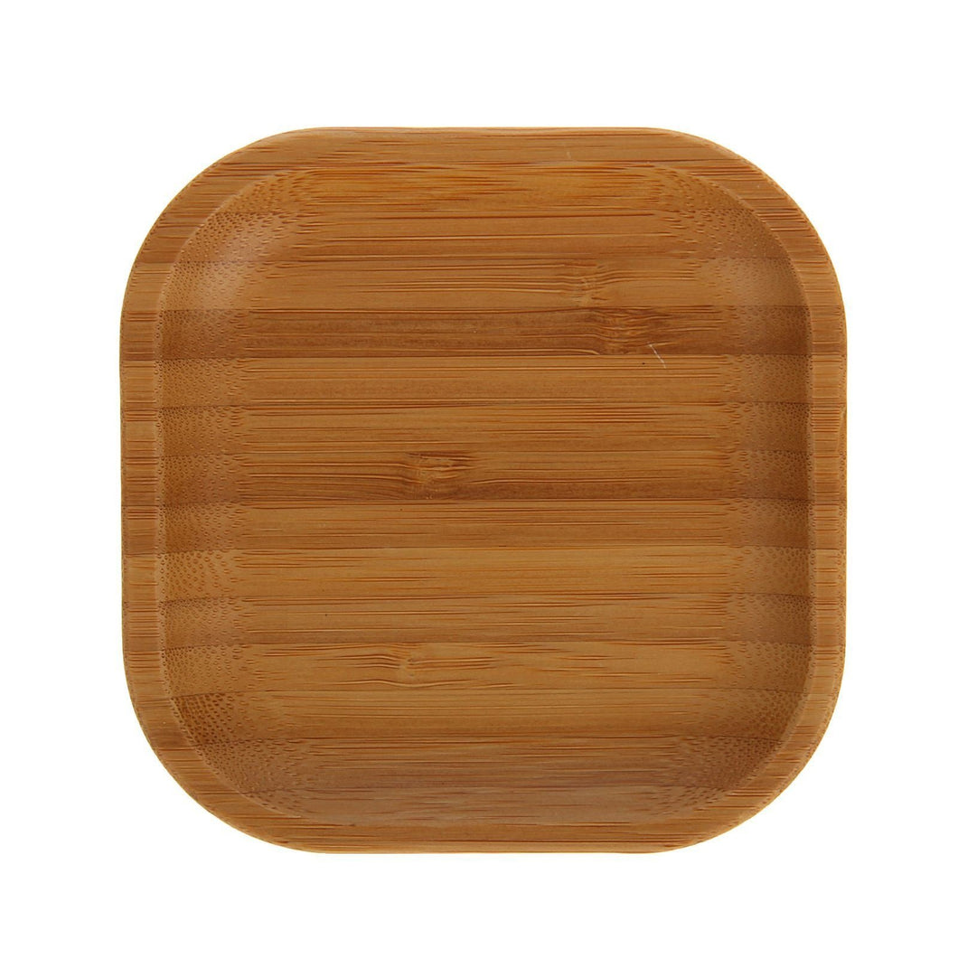 [A] Natural Bamboo Plate 4