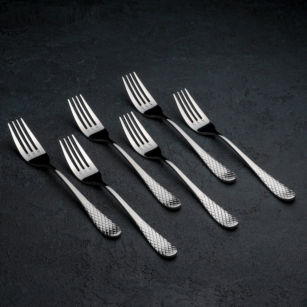 [A] High Polish Stainless Steel Dinner Fork 8