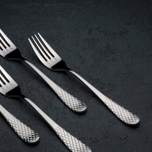 [A] High Polish Stainless Steel Dinner Fork 8"
