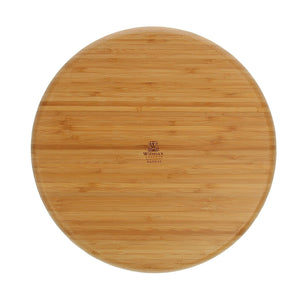 [A] Natural Bamboo 2 Section Platter 14"