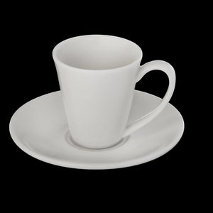 [C *] Fine Porcelain 4 Oz | 110 Ml Coffee Cup & Saucer WL-993054AB