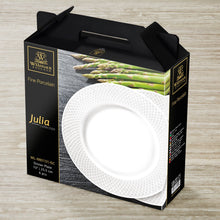 "Fine Julia Porcelain Deep Plate Dinnerware Set For 6 Including 10"" Charger Plate WL-555027"