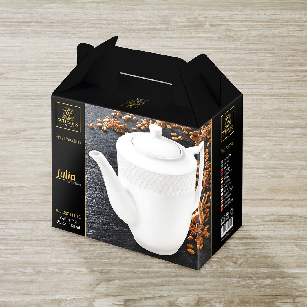COFFEE POT 25 OZ | 750 ML IN COLOUR BOX - WILMAX PORCELAIN WILMAX