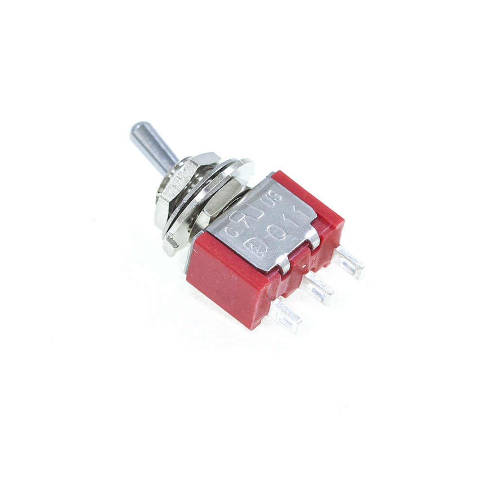 <b>TS-1MS1T2B3M1QE</b><br>SPDT On-On<br>Solder Lug<br>Toggle Switch