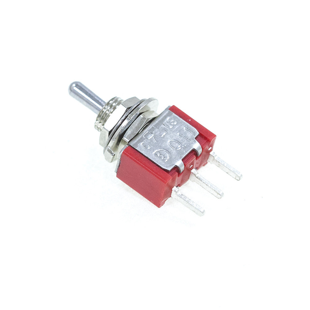 <b>TS-1MS3T2B3M2QE</b><br>SPDT On-Off-On<br>PCB Mount<br>Toggle Switch