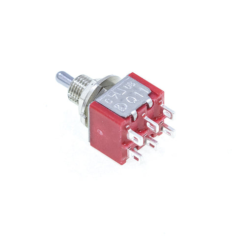 <b>TS-1MD6T2B1M1QE</b><br>DPDT On-On-On<br>Solder Lug<br>Toggle Switch