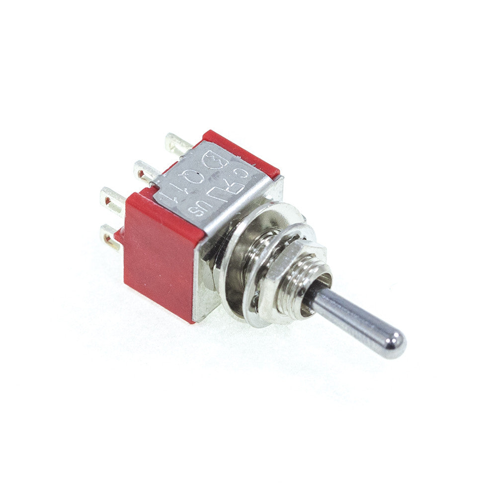 <b>TS-1MD3T1B1M1QE</b><br>DPDT On-Off-On<br>Solder Lug<br>Toggle Switch - Mammoth Electronics