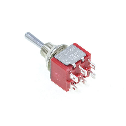 <b>TS-1MD6T1B1M1QE</b><br>DPDT On-On-On<br>Solder Lug<br>Toggle Switch