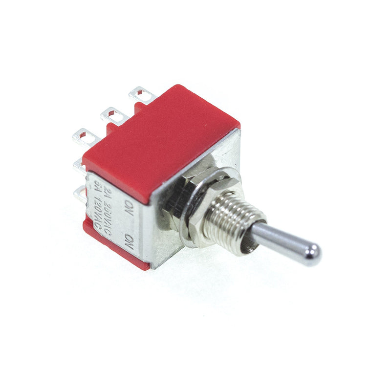 <b>TS-1M31T1B1M1QE</b><br>3PDT On-On<br>Solder Lug<br>Toggle Switch - Mammoth Electronics