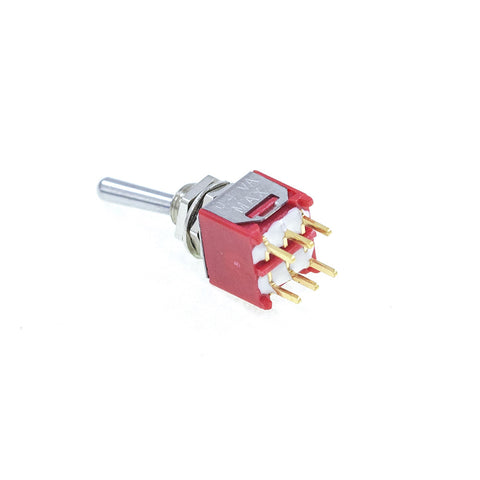 <b>TS-2MD1T1B1M2RE</b><br>DPDT On-On<br>PCB Mount<br>Mini Toggle Switch