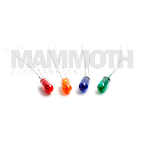<b>4SLED3MMYL</b><br>3mm Sub-miniature<br>Wire Ended Bulbs - Mammoth Electronics