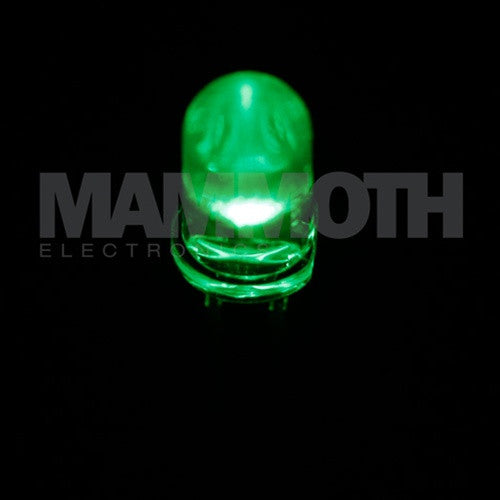 <b>WP7113ZGC/G</b><br>5mm LED - <i>Green</i> - Mammoth Electronics