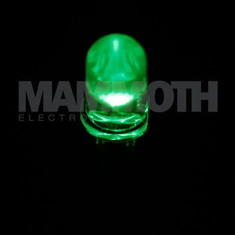 <b>WP7104MGC</b><br>3mm LED - <i>Green</i> - Mammoth Electronics