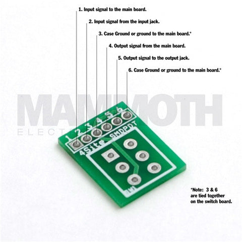 Small 2PDT Wiring Board - Mammoth Electronics