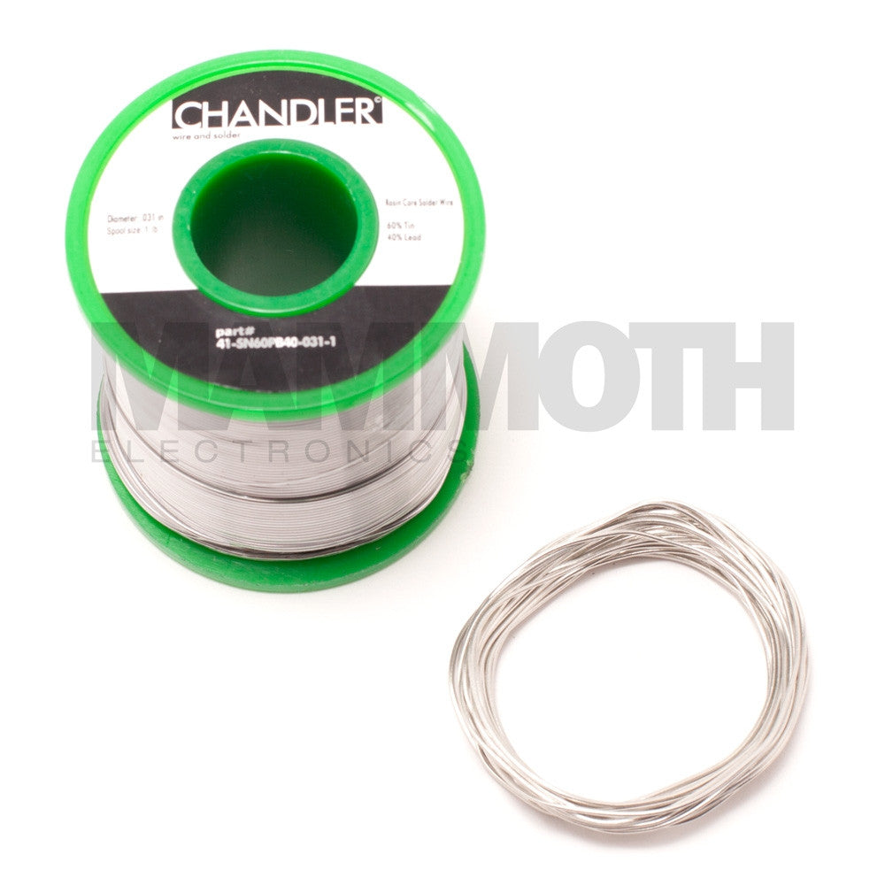 <b>SN60PB40 Solder</b><br>10ft Length - Mammoth Electronics
