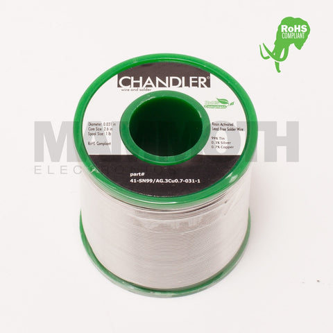 CHANDLER SN99/AG0.3/CU0.7 RoHS (Green) Solder Spool - Mammoth Electronics