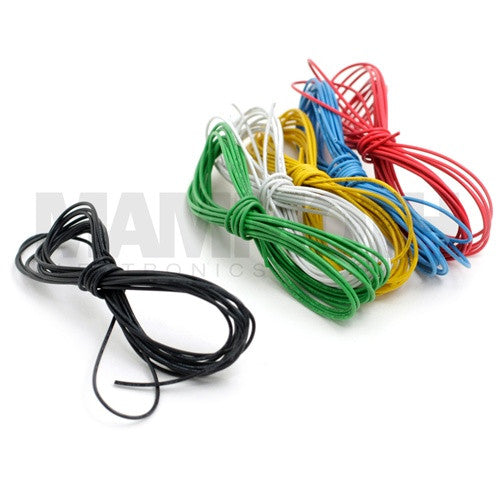 <b>UL1007/1569 Stranded Wire</b><br>24AWG<br><i>10ft Length</i> - Mammoth Electronics