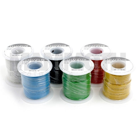 <b>UL1007/1569 Stranded Wire</b><br>24AWG<br><i>100ft Spool</i> - Mammoth Electronics