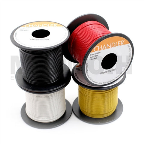 22AWG Teflon 100ft Spools : UL1330/1331 Hookup Wire - Mammoth Electronics