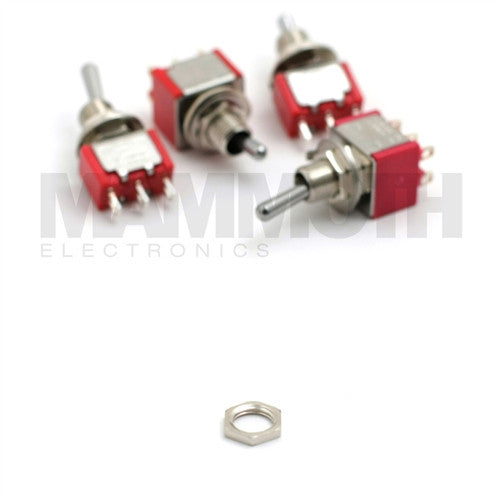 Nut Replacement for 4STS-1M Mini Toggle Switches - Mammoth Electronics