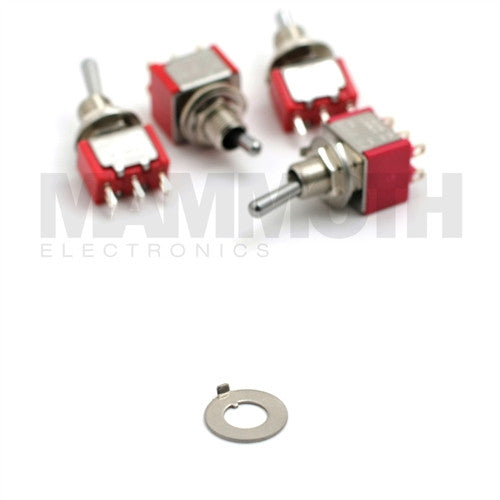 Key Washer Replacement for 4STS-1M Mini Toggle Switches - Mammoth Electronics