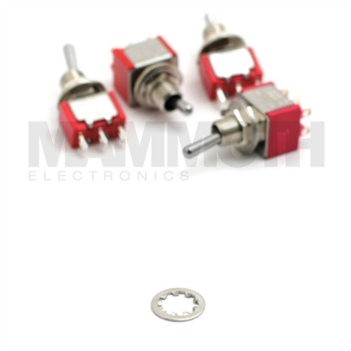 Locking Washer Replacement for 4STS-1M Mini Toggle Switches - Mammoth Electronics