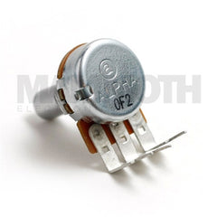 <b>Alpha Potentiometer</b><br>Linear (B)<br>16mm Single Gang<br>PCB Mount<br><i>90° Short Pin</i> - Mammoth Electronics