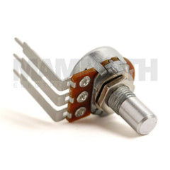 <b>Alpha Potentiometer</b><br>Reverse Log (C)<br>16mm Single Gang<br>PCB Mount<br><i>90° Long Pin</i> - Mammoth Electronics