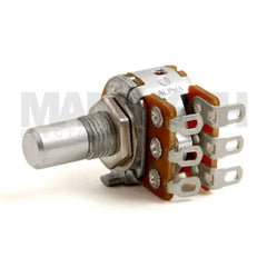<b>Alpha Potentiometer</b><br>Linear (B)<br>16mm Dual Gang<br>Solder Lug - Mammoth Electronics