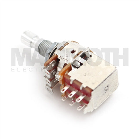 Alpha Short Shaft 16mm Push/Pull Guitar Potentiometer - Mammoth Electronics