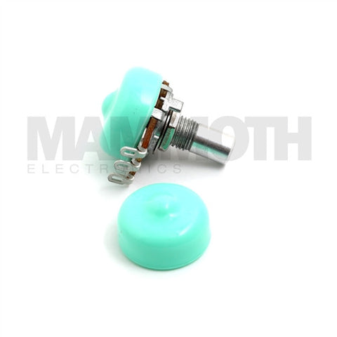 <b>Potentiometer Dust Seal</b><br>16mm<br><i>Green</i> - Mammoth Electronics