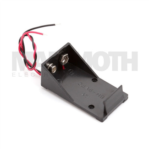 <b>JK-9V-BH 9V Battery Tray</b><br>Center Leads - Mammoth Electronics