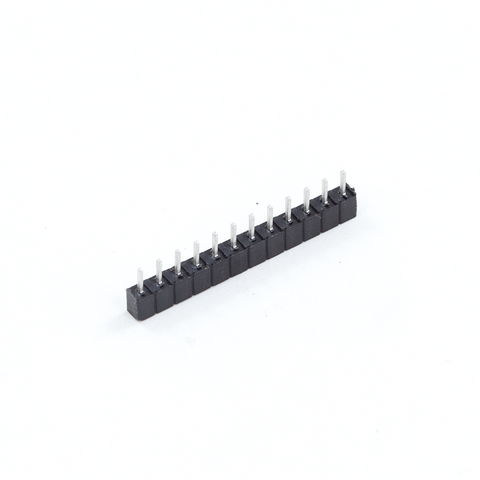 <b>620-SIP12 Socket</b><br>12-Contact SIP<br>Through Hole Connector<br><i>Snap-off</i> - Mammoth Electronics