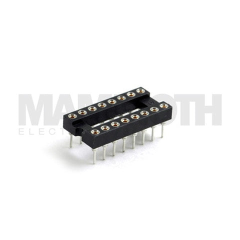<b>620-DIP16 Socket</b><br>16-Contact DIP<br>Through Hole Connector - Mammoth Electronics