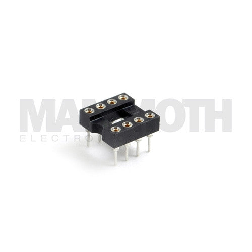 <b>620-DIP8 Socket</b><br>8-Contact DIP<br>Through Hole Connector - Mammoth Electronics