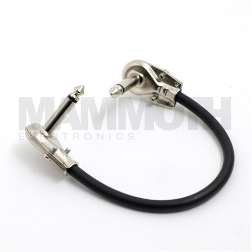 "<b>Patch Cable - Pancake</b><br>6"" Low Profile Nickel Plated<br><i>Pre-assembled</i> - Mammoth Electronics"