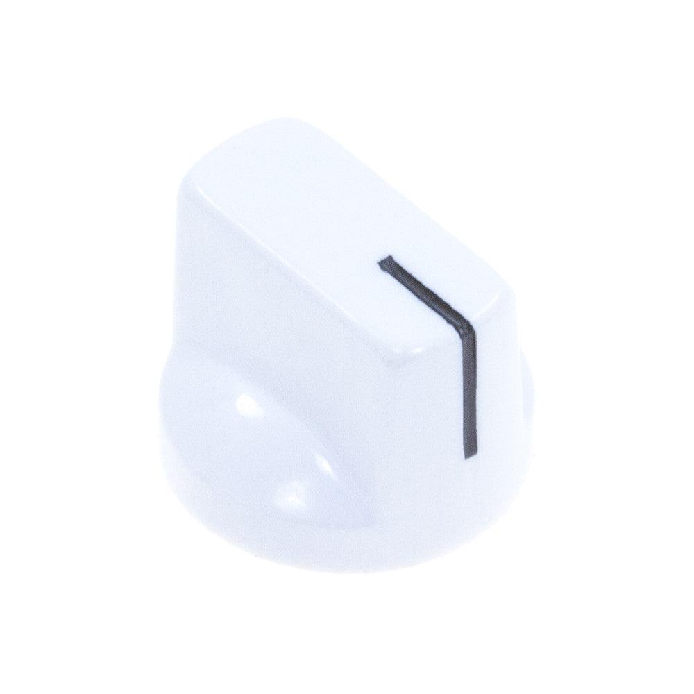 1510 White Plastic Knob (19 x 14mm) - Mammoth Electronics
