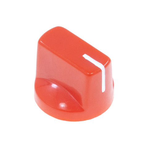 1510 Red Plastic Knob (19 x 14mm) - Mammoth Electronics